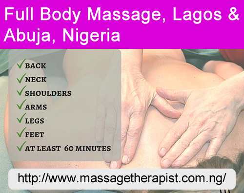 Full-body Massage Mobile Services in Lagos and Abuja, Nigeria
